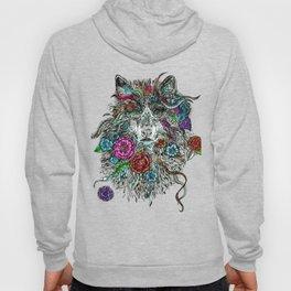 Floral Wolf. Hoody