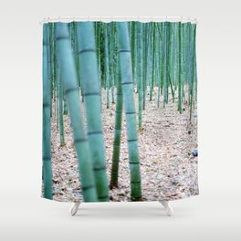 The Bamboo Grove, Arashiyama, Kyoto Shower Curtain