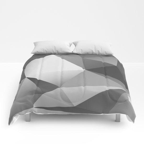 geometric VII [black & white] Comforters