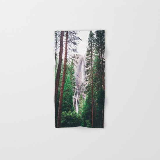 Waterfall amongst trees Hand & Bath Towel