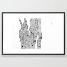 Scribbly Bark Framed Art Print