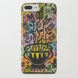 Neon Flowers iPhone Case