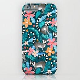 Gouache Lemur Land iPhone Case