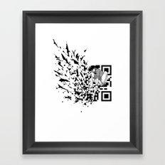 Break a (QR) Code Framed Art Print