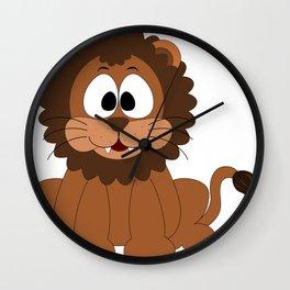 Cartoon Cute Lion Wall Clock