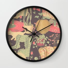 Cats are so sweet Wall Clock