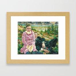 Icelandic Hill People Framed Art Print