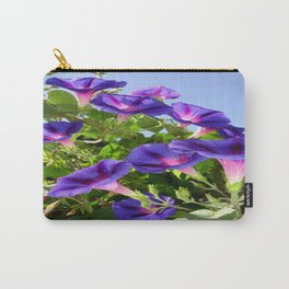Deep Purple Morning Glory Climbing Plant Carry-All Pouch