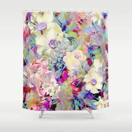 summery floral Shower Curtain