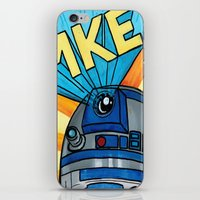 milwaukee iPhone & iPod Skins featuring Milwaukee: R2D2 MKE by Amanda Iglinski