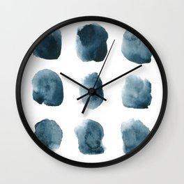 Abstract watercolor circles Wall Clock