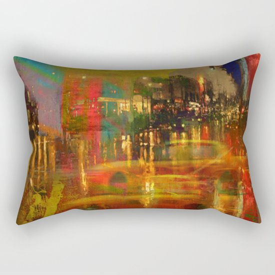 The yellow city of taxis Rectangular Pillow