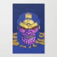 thanos Canvas Prints featuring Behold, Thanos! by Digital.Soapbox