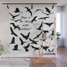 Hope is the Thing with Feathers Wall Mural