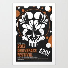 Graveface Fest 2012 Art Print