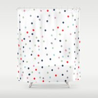 confetti Shower Curtains featuring CONFETTI by KIND OF STYLE