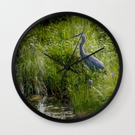 June Heron Wall Clock