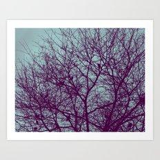 1000 Words on Twilight and Aubergine Art Print