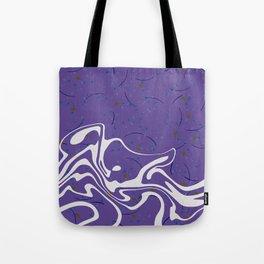 Violet Marbled Waves Swirled Effect Design Tote Bag
