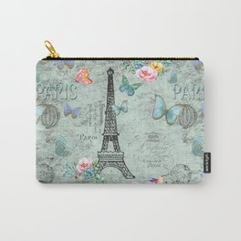 Paris - my love - France Eiffeltower Nostalgy- French Vintage Carry-All Pouch