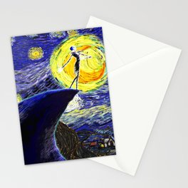 Walking to The Moon Stationery Cards