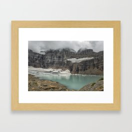 Grinnell and Salamander Glaciers, Soon Things of the Past Framed Art Print