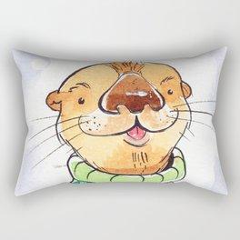 Otter in the sweater Rectangular Pillow