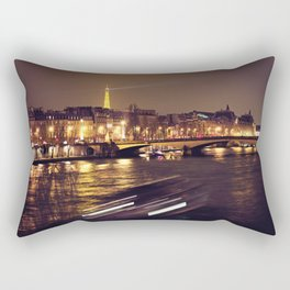 Le Seine par nuit // The Seine by night Rectangular Pillow