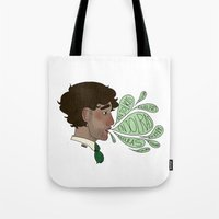 grantaire Tote Bags featuring A name so sweet by Antisepticbandaid