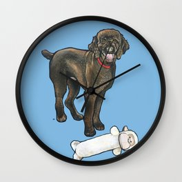 Milo the Poodle with his Monkey Wall Clock