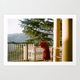 Pondering Monk Art Print