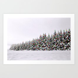 Festive Collage Art Print