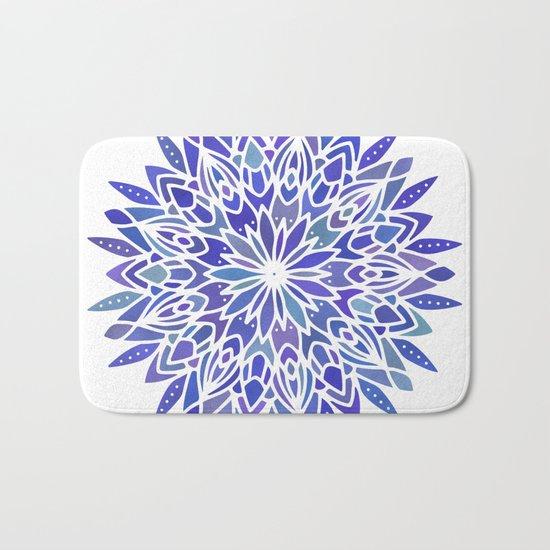 Mandala Vivid Blue Bath Mat