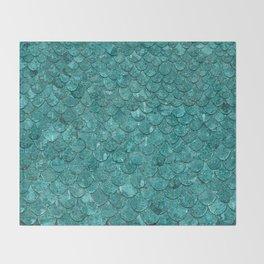 Real Mermaid Scales Throw Blanket