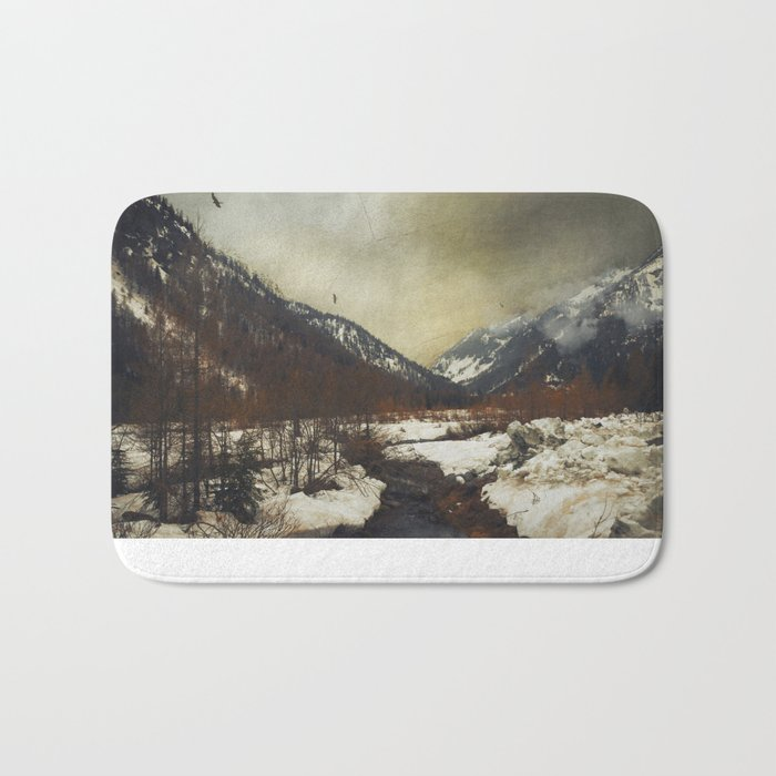 Wild Winter Valley Bath Mat