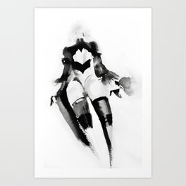 2B NieR Automata Beautiful back Art Print