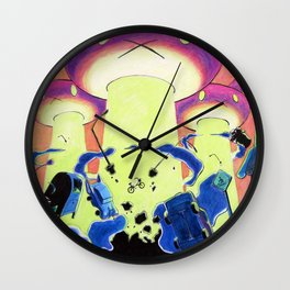 They Came From Carrot Space Wall Clock