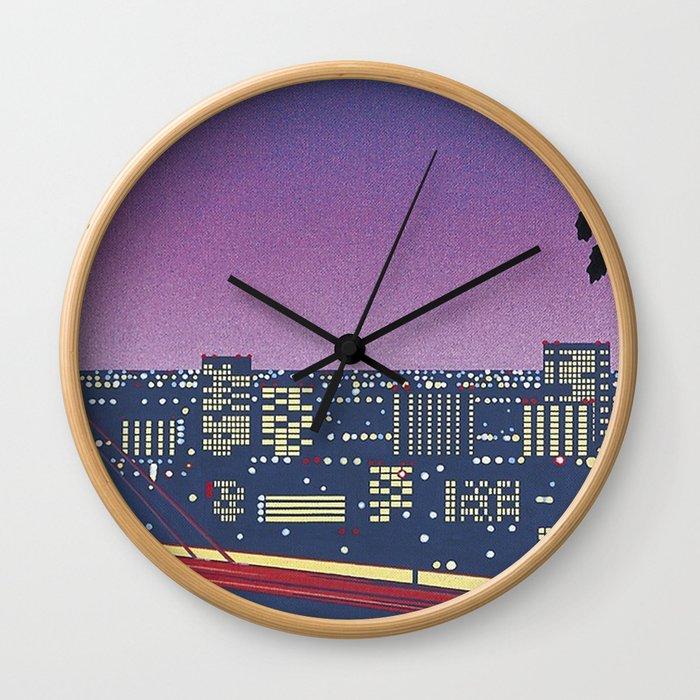Hiroshi Nagai Vaporwave Shirt Wall Clock