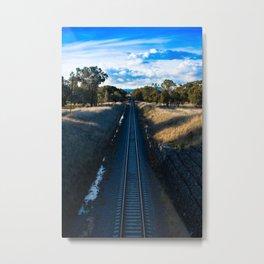 Northbound Rail Line Metal Print