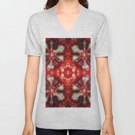 kaleidoscope tie-dye ancient resist-dyeing techniques textile Unisex V-Neck