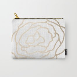 Flower in White Gold Sands Carry-All Pouch