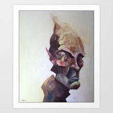 Paintful Enjoyment Art Print
