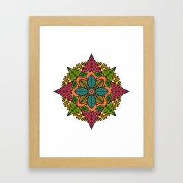 Respect Mandala Framed Art Print