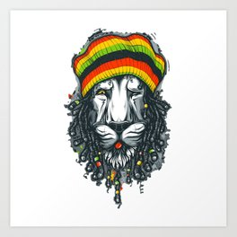 LION---MARLEY Art Print
