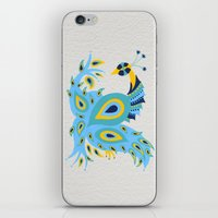 peacock iPhone & iPod Skins featuring Peacock by Cat Coquillette