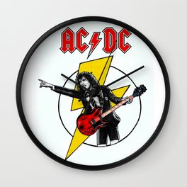 Angus Young AC/DC Wall Clock