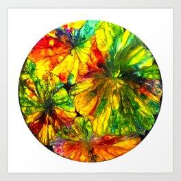 Fight or Flight ~ Adrenaline Crystals Under Polarized Light Art Print
