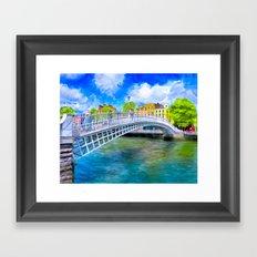 Ha'Penny Bridge - Historic Dublin Ireland Framed Art Print