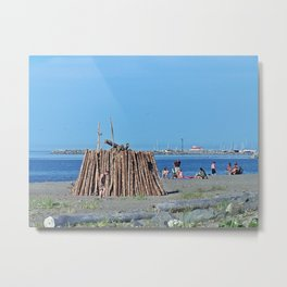 Extreme Bonfire on the Beach Metal Print