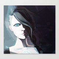 borderlands Canvas Prints featuring Borderlands - Angel by BEN Olive